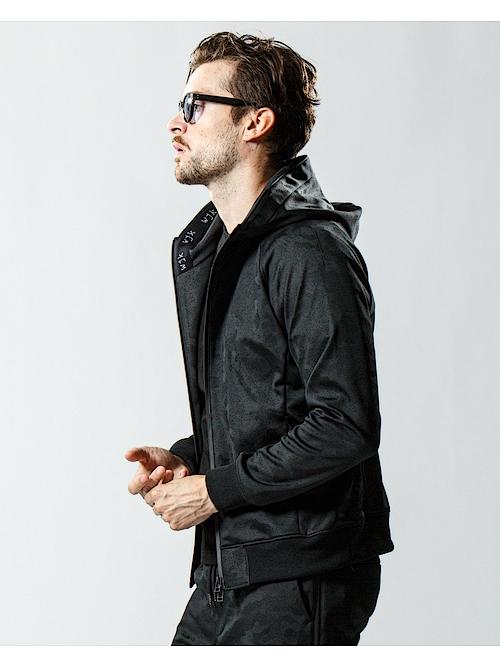(予約品)2月下旬入荷予定/wjk・ダブルジェイケイ/workout parker/blackcamo emboss