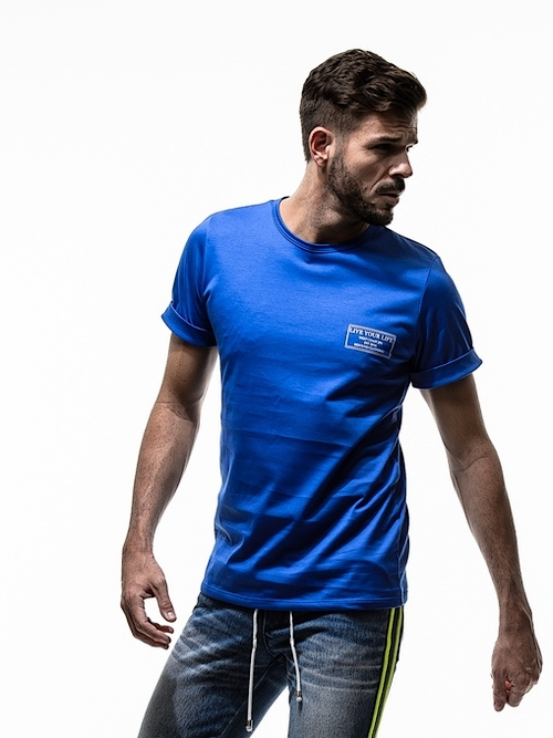(予約品)4月入荷/19TH RESOUND CLOTHING・リサウンドクロージング/CREW ROLL UP jersey TEE/BLUE