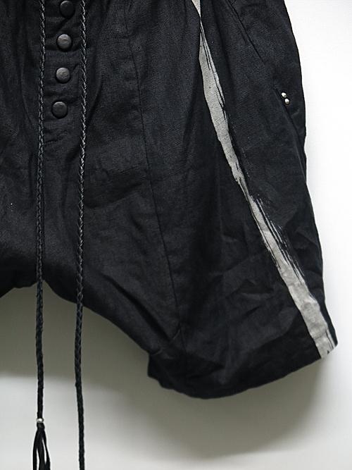 (予約品)2〜3月入荷/KMRii・ケムリ/Linen 100% Stealth Linen Shorts/BLK
