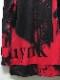 (予約品)9月入荷予定/kiryuyrik・キリュウキリュウ/InkJet Fleece Zipp Hoodie/Black&Red