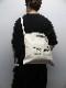 Ground Y・グラウンドワイ/Cotton canvas 3way Logo tote bag/BEG