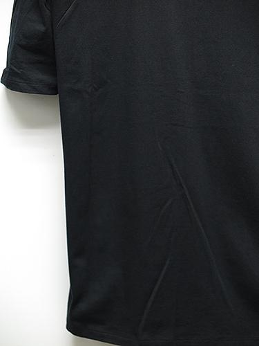 SALE/D.HYGEN(ディーハイゲン)ハイゲージ天竺刺繍5分袖Tシャツ・ブラック.