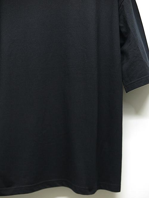 Ground Y・グラウンドワイ・Groundy & Yohji yamamoto 5.6oz Cotton Short Sleeve/BLACK