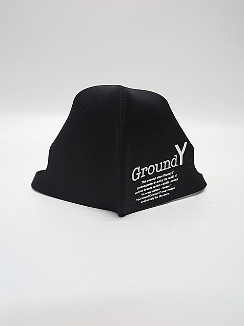 Ground Y・グラウンドワイ/Nano Cardboard kni 2pac GY/YY logo mask/BLK