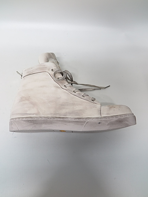 Portaille・ポルタユ/Leather sneakers Soft tanned horse: dustywhite