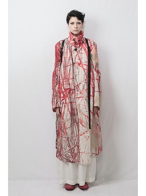 (予約品)1〜2月入荷予定/nude:masahiko maruyama ・ヌード:マサヒコマルヤマ/Linen Lawn Oversized Long Coat/PINK