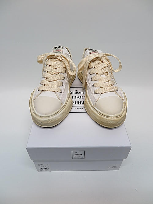 MIHARA YASUHIRO・ミハラヤスヒロ/PETERSON LOW/ Over-dyed original sole canvas Low-Top sneaker/WHT