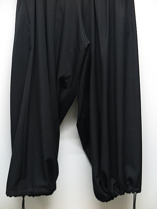 Yohji Yamamoto・ヨウジヤマモト/シワギャバ O-定番バルーンパンツ/ブラック