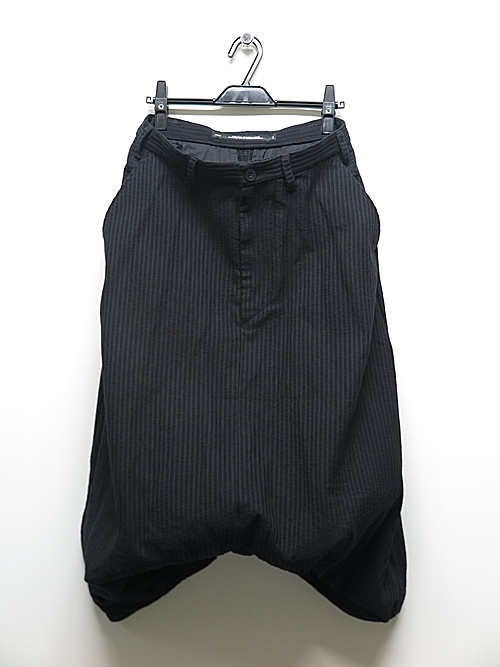 JULIUS・ユリウス/COTTON STRIPE DOBBY TROUSERS FOR MALE/BLACK