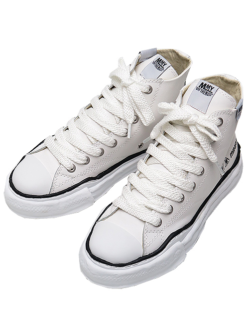 MIHARAYASUHIRO-SO-COW LEATHER original sole leather hitop sn/WHT