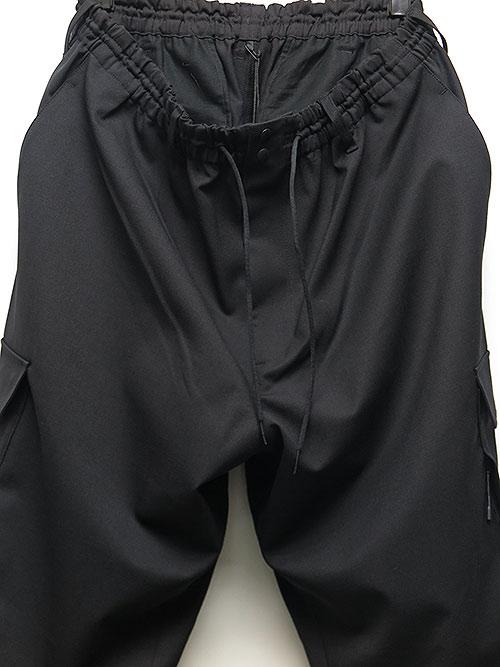 Y-3・ワイスリー・M CLASSIC REFINED WOOL STRETCH CARGO PANTS・ブラック