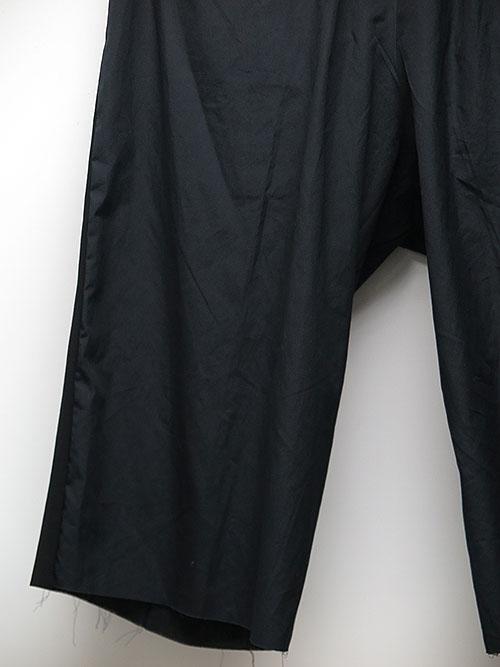 SALE40%OFF/The Viridi-anne・ザ ヴィリディアン/強撚二重織り 七分丈パンツ BLACK.