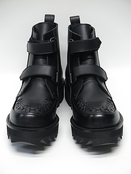 kiryuyrik・キリュウキリュウ/Cow Leather 2REN Velcro Shark Boots/Black