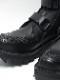 kiryuyrik・キリュウキリュウ/Cow Leather 2REN Velcro Shark Boots/Black