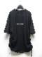 (予約品)2〜3月入荷/KMRii・ケムリ/Cotton Spandex Side Shrring Stealth Pullover/BLK