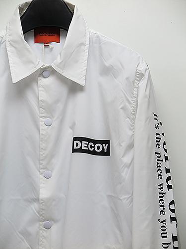 SALE50%OFF/DECOY&CO.・デコイアンドシーオー/World of lllution Coach JKT/ホワイト.