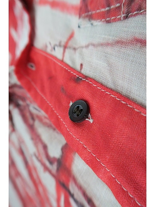 nude:masahiko maruyama ・ヌード:マサヒコマルヤマ/Linen Lawn Oversized Short Sleeve Shirt/PINK