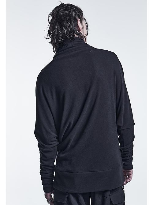 (予約品)9月入荷予定/kiryuyrik・キリュウキリュウ/Heat Tech Jersey Dolman High Neck/Black