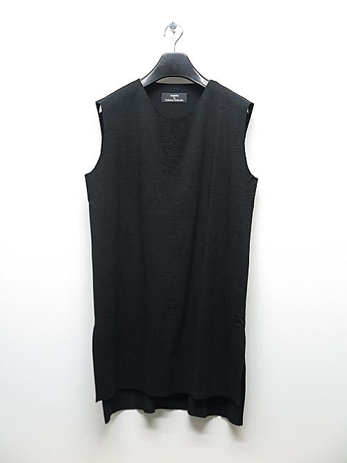 kujaku・クジャク/linen cotton iwahaze pullover/BLK.