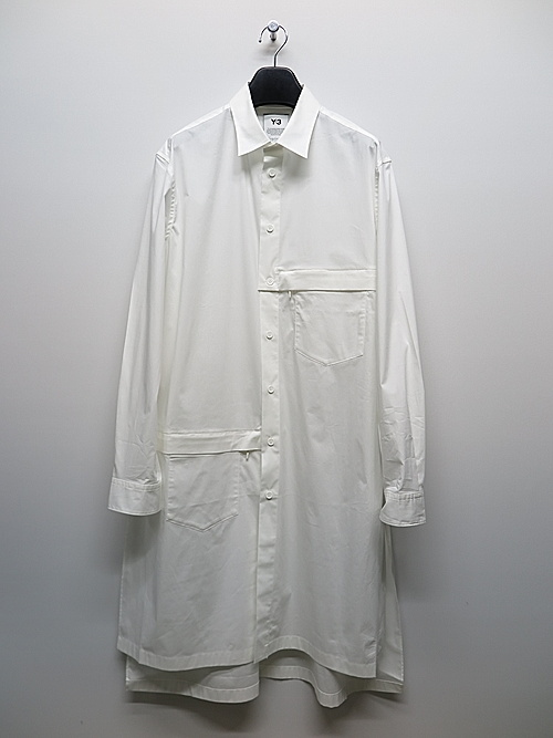 Y-3・ワイスリー/M CLASSIC LONG SHIRT/CORE WHITE