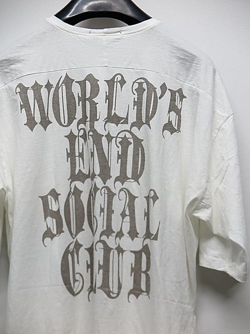 (予約品)2〜3月入荷/KMRii・ケムリ/Cotton World's End Social Club Cut / SS/WHT