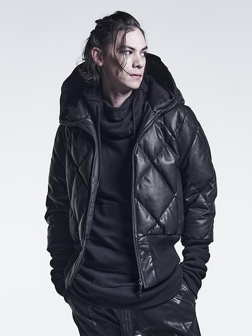 kiryuyrik・キリュウキリュウ/Heat Tech Jersey NINJA-Hoodie3/Black