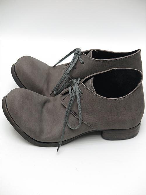 (予約品)2〜3月入荷予定/Portaille・ポルタユ/Filled steer derby shoes/GRAY