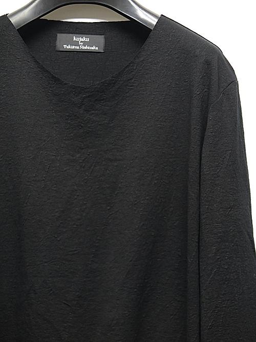 kujaku・クジャク/linen cotton ontade pulloverr/BLK.