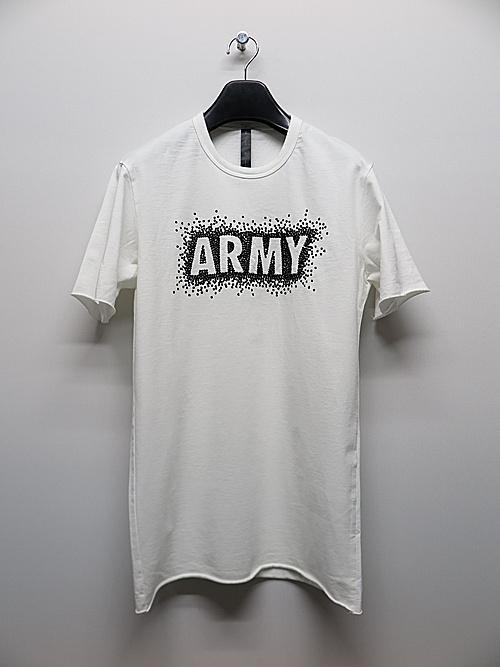 SALE50%OFF/wjk・ダブルジェイケイ/3D ARMY T/white×black.