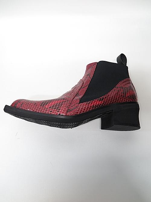 kiryuyrik・キリュウキリュウ/Python Side Gore Boots/Red