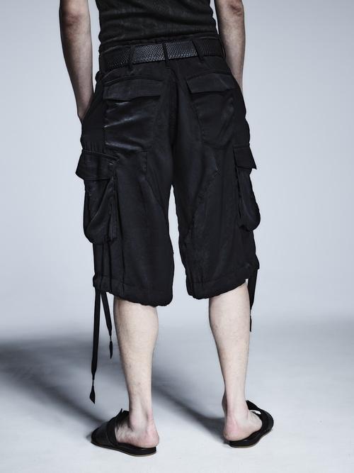 (予約品)3月入荷予定/kiryuyrik・キリュウキリュウ/Satin Wide Cargo Pants/Black