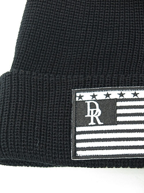RESOUND CLOTHING・リサウンドクロージング/COTTON knit cap/FLAGBKWH