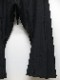 JULIUS・ユリウス/COTTON TYPEWRITER CLOTH TROUSERS FOR MALE/BLACK