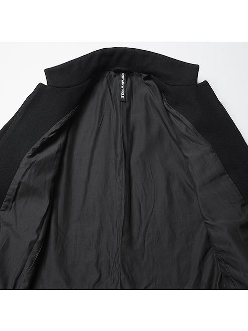 (予約品)10月入荷予定/RIPVANWINKLE・リップヴァンウィンクル/ヴィンテージメルトン CHESTER COAT/BLACK