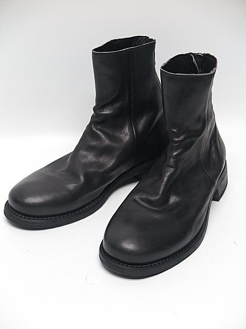 Portaille・ポルタユ/Soft tanned horse drape boots/BLACK