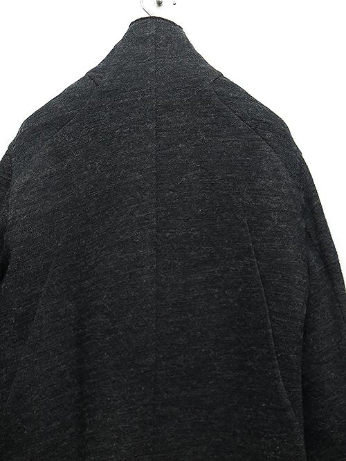 D.HYGEN・ディーハイゲン/ノルウェーウールボンディングZIPハイネックロングカーディガン/BLACK.