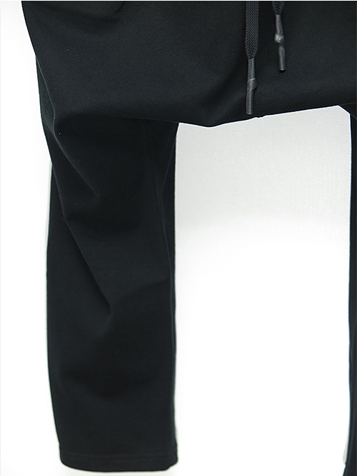 nude:masahiko maruyama・ヌード:マサヒコマルヤマ/1トビ裏毛 TUCK SAROUEL PANTS/BLK