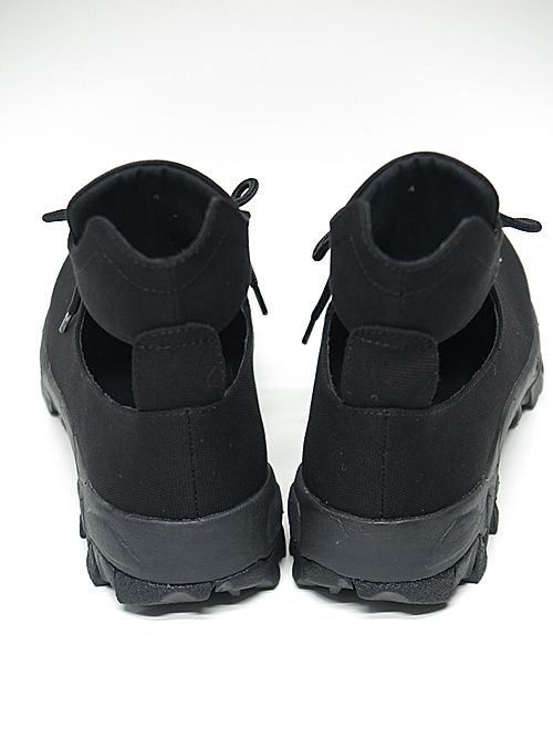 Yohji Yamamoto・ヨウジヤマモト/8号コットンキャンパスカットワークブーツ/ブラック