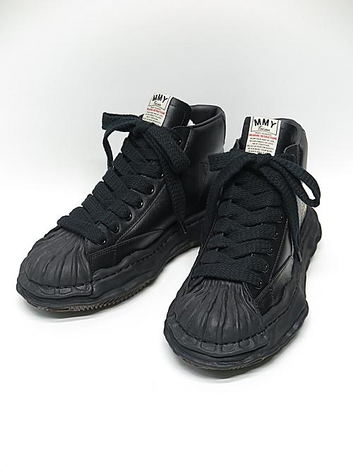 MIHARA YASUHIRO・ミハラヤスヒロ/ BLAKEY high - original STC sole leather hi-top sn/BLKxBLK