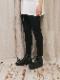 (予約品)2〜3月入荷/nude:masahiko maruyama ・ヌード:マサヒコマルヤマ/CROPPED SLIM PANTS/Black