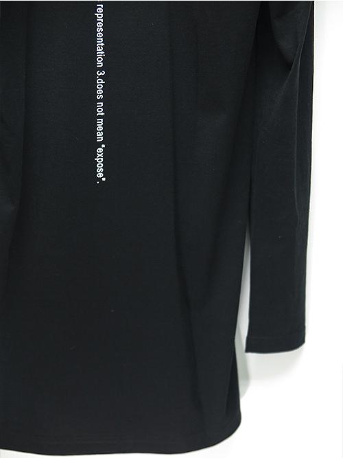 nude:masahiko maruyama・ヌード:マサヒコマルヤマ/ハードバイオ天竺LONG SLEEVE T/BLACK