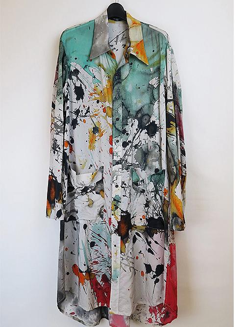 (予約品)1〜2月入荷予定/nude:masahiko maruyama ・ヌード:マサヒコマルヤマ/Cupro/Cotton Broadcloth Oversized Long Shirt/Color