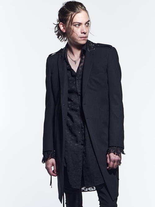 (予約品)2月入荷予定/kiryuyrik・キリュウキリュウ/PythonJQD-Z Studs Peacked Long Jacket/Black