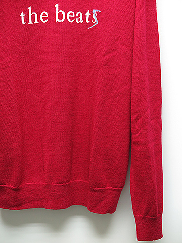 SALE60%OFF/DIET BUTCHER SLIM SKIN(ダイエットブッチャースリムスキン)Two face knit pullover/DARK RED.
