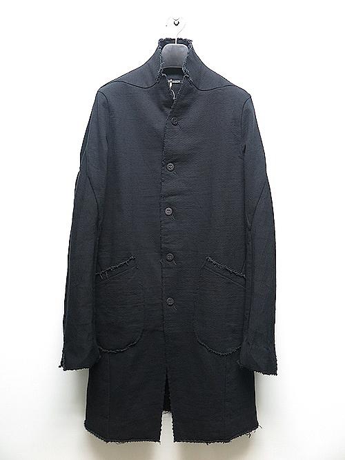 D.HYGEN・ディーハイゲン/ヘビーコットンジャージーロングジャケット/BLACK.