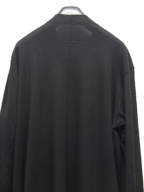 JULIUS・ユリウス/BRUSHED COTTON YORYU CUT & SEWN FOR MALE/BLACK