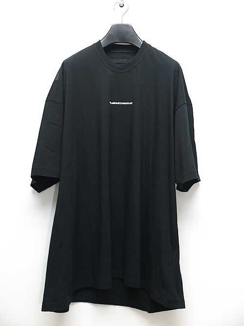 NIL/S・ニルズ/COTTON JERSEY OVERSIZE BACK PRINT T-SHIRT/BLACK