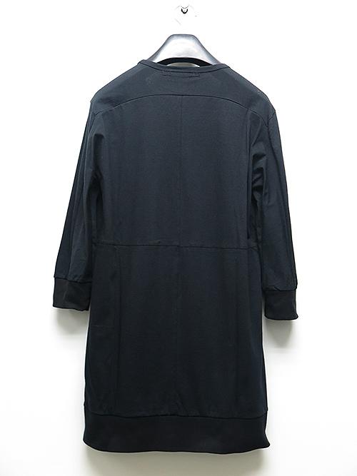 D.HYGEN・ディーハイゲン・ハイゲージ天竺7部分袖Tシャツ・ブラック.