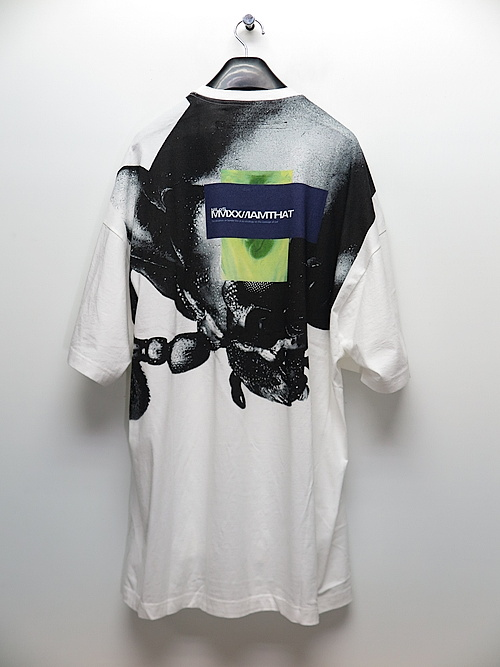 SALE40%OFF/NIL/S・ニルズ/COTTON JERSEY OVERSIZE BACK PRINT T-SHIRT/WHITE