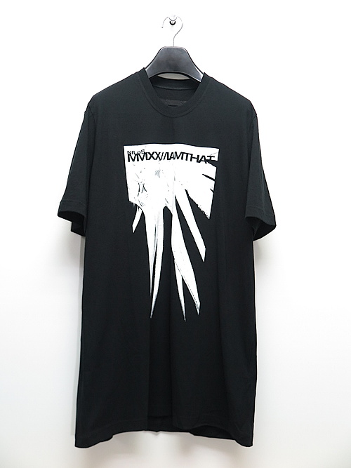 SALE40%OFF/NIL/S・ニルズ/COTTON JERSEY SPIKE PRINT T-SHIRT/BLACK